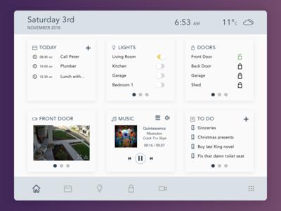 Daily UI 021 - Home Monitoring Dashboard dashboard home monitoring dashboard dailyui021 dailyui 021