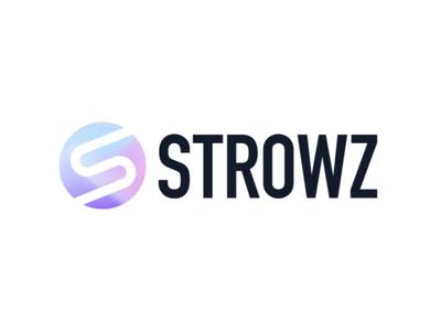 Strowz - Branding & Landing promo negative interface interaction animation landing page fintech finance app motion ui typography geometry branding symbol mark identity brand logo icon