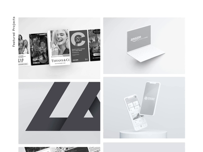 Project Grid portfolio simplicity website web video ux ui typography promo negative interface interaction animation