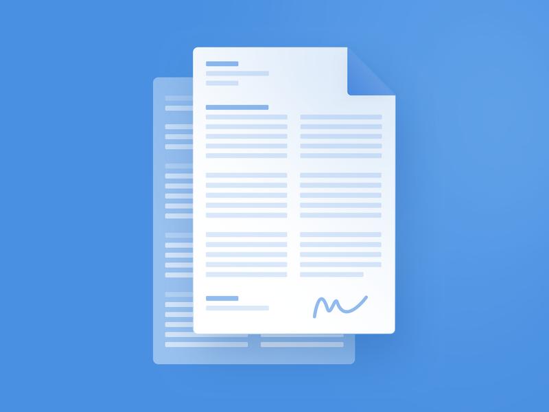 Singed Document Illustration iconography singed document website minimal flat app web ui design icon illustration vector