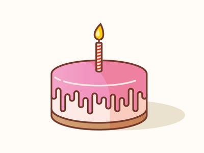 Birthday Cake design icon vector illustration strawberry cheesecake cake birthday