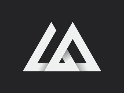 LA Monogram clean graphic design lettering type minimal flat design typography branding logo vector symbol negative illustration icon brand identity geometry mark monogram