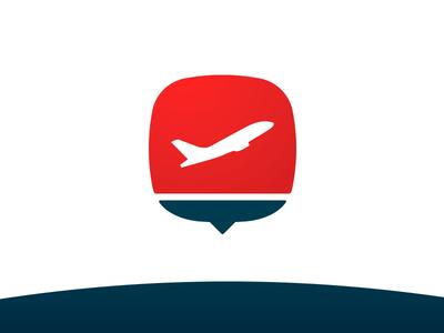Airline Panel Logo plane icon symbol mark logo identity brand airline shape vector illustration