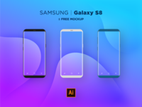 Samsung S8 Flat Mocks .AI
