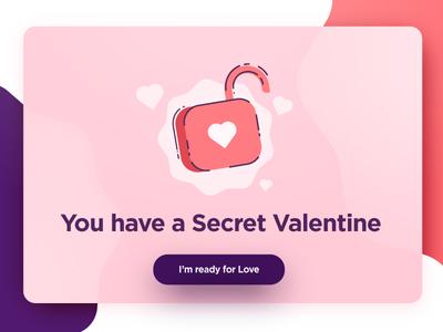 Valentine's Modal hearth vector illustration lock valentine love ui modal