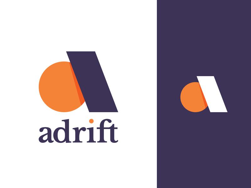 adrift letter a letter a adrift minimal type simple logotype letters flat typography geometry branding symbol mark identity logo icon brand vector