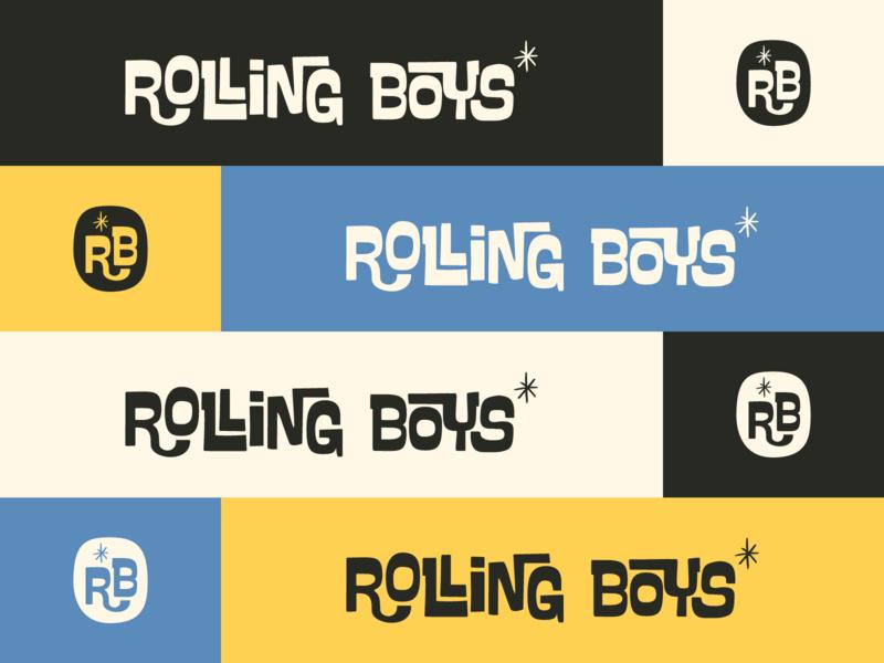 Rolling Boys agency branding retro design typography monogram branding symbol mark identity brand logo icon vector