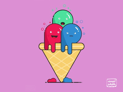 Ice Creams ice cream character minimal cream