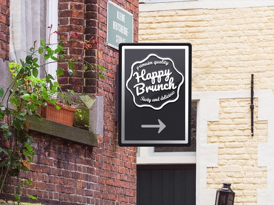 Happy Brunch Logo design logo design sweet brunch logo