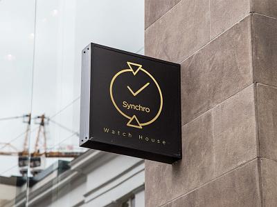 Synchro Logo Design logo design logo watch synchro
