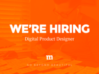 We're Hiring Mighty Product Designers!