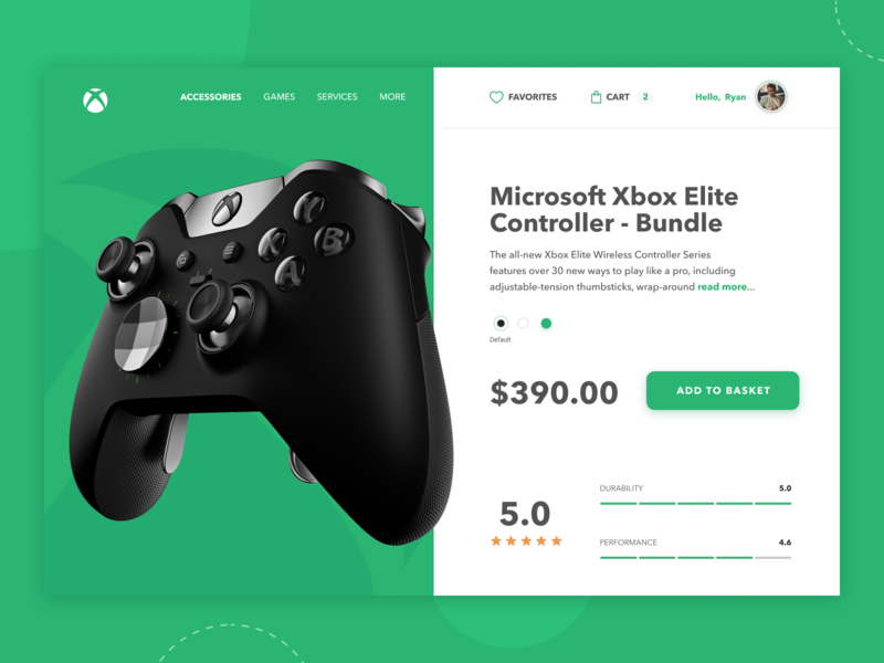 Xbox product details -  interface concept 🎮