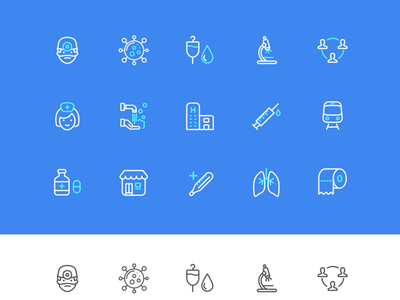 Free icons set - Covid 19 🦠 covid 19 healthcare blue resources figma freebie simple vector icon illustration design ui clean concept