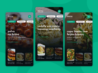 Restaurant Menu - Keyvisual Concept WIP 🥘 simple keyvisual categories health vegetarian vegan food restaurant menu app ui design clean concept