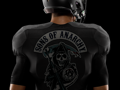 Sons Of Anarchy uniform dark series samcro art concept football sons of anarchy