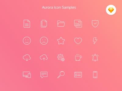 Aurora Icon Set (Free resource)