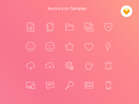 Aurora Icon Set (Free resource)