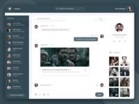 Telegram Redesign - Dark Concept