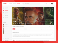 Youtube Redesign Concept - Light and Dark Version