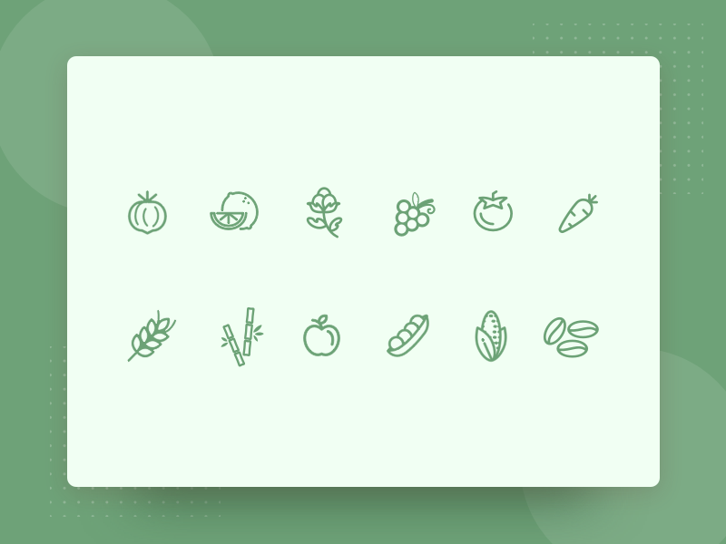 🌿 Agriculture Icon Set  🌿 food icon agro white line icons iconography freebies free icons