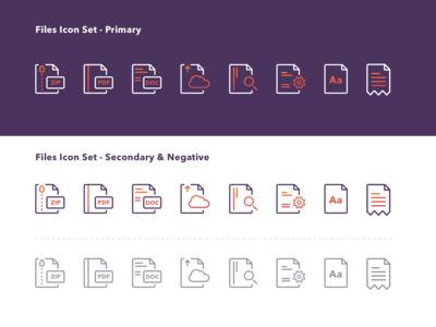 Files Icon Set 🗂 - Free Resource