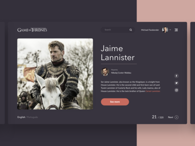 Game Of Thrones - Characters Page ⚔️