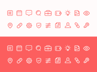 Misc rounded icons set