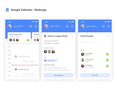 Google Calendar Redesign 🗓