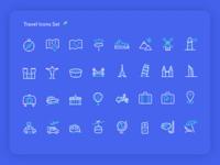 Travel Icons Set ✈️