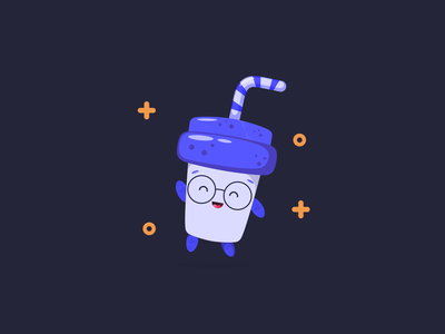 Avatar - Drink water app avatar app ui gradient branding dark illustration simple clean concept