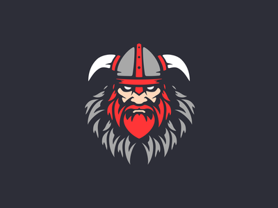 Viking Logo Concept ⚔️ icon logo norse viking vector branding illustration dark design simple clean concept