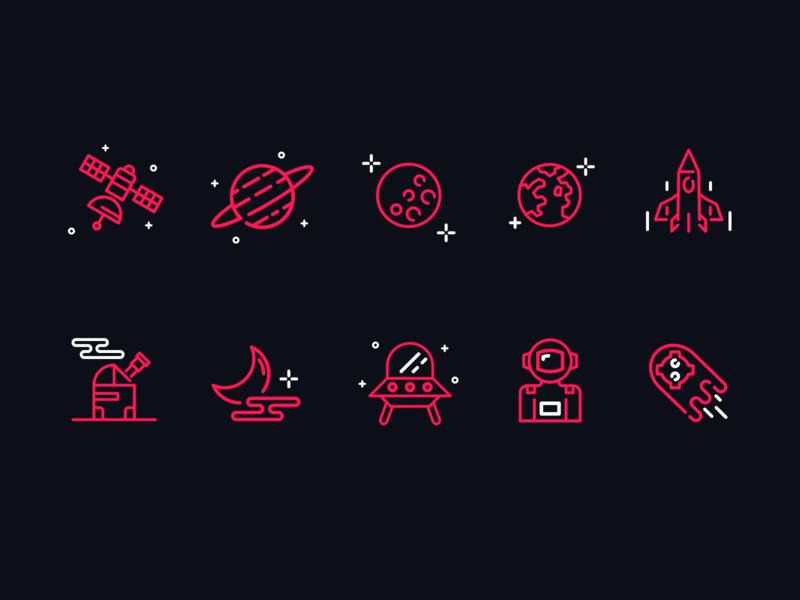 Astronomy Icon Set 👽