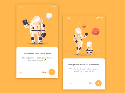 Space Travel Purchase - App Concept 👩🏻‍🚀 ux onboarding typography vector illustration app ui design simple clean concept