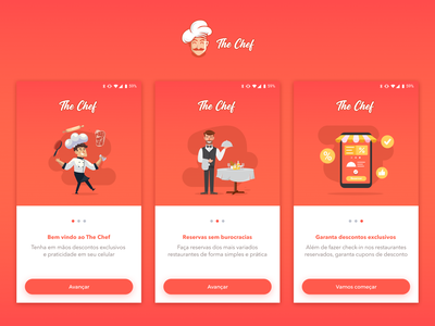 Restaurant App - Walkthrough 👨🏻‍🍳 walkthrough restaurant food gradient illustration app ui design simple clean concept
