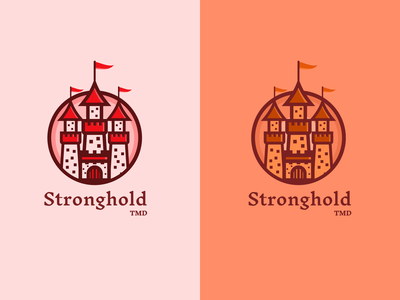 Stronghold TMD - Logo Concept 🏰 castle vector typography logo branding illustration ui design simple clean concept