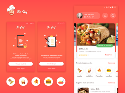 Restaurant App - Home & Use Cases 👩🏻‍🍳 use case ux food app restaurant app home typography gradient icon illustration app ui design concept