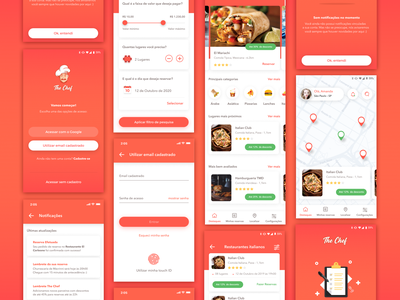 Restaurant App - Final Shot 👨🏻‍🍳 live app design android restaurant ios gradient illustration app card ui design simple clean concept