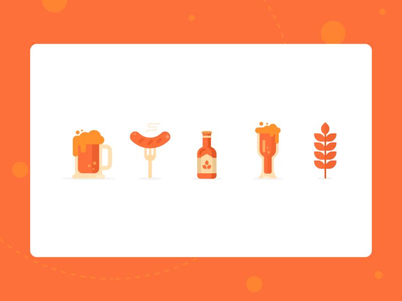 Illustrations Concept - German food 🇩🇪
