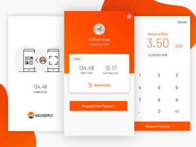 Cryptocurrency Monero App wallet send money android ios app cryptocurrency monero