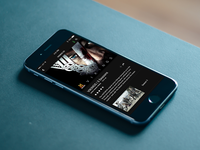 Mobile TV iOS Concept - History Channel Vikings