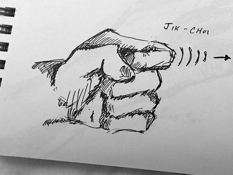 Kung Fu Sketch— Jik Choi doodle sketch crosshatching ink pen illustration punch kung fu martial arts gesture exercise