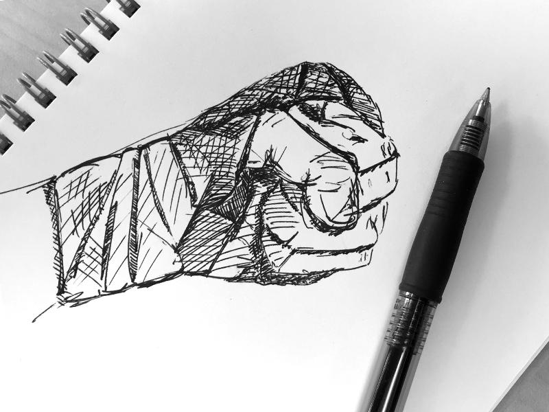 Handwrapped—Sense8 netflix mma kung fu handwraps martial arts sense8 drawing pen ink doodle sketch