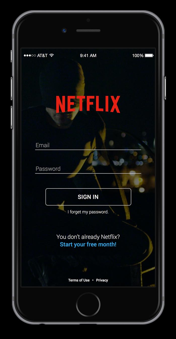 Netflix login dribbble