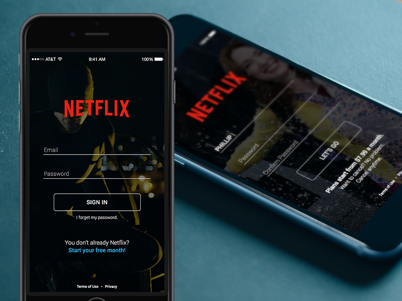 Daily UI 001: Netflix Sign Up redesign app daredevil ix ux ios mobile login signup ui dailyui netflix