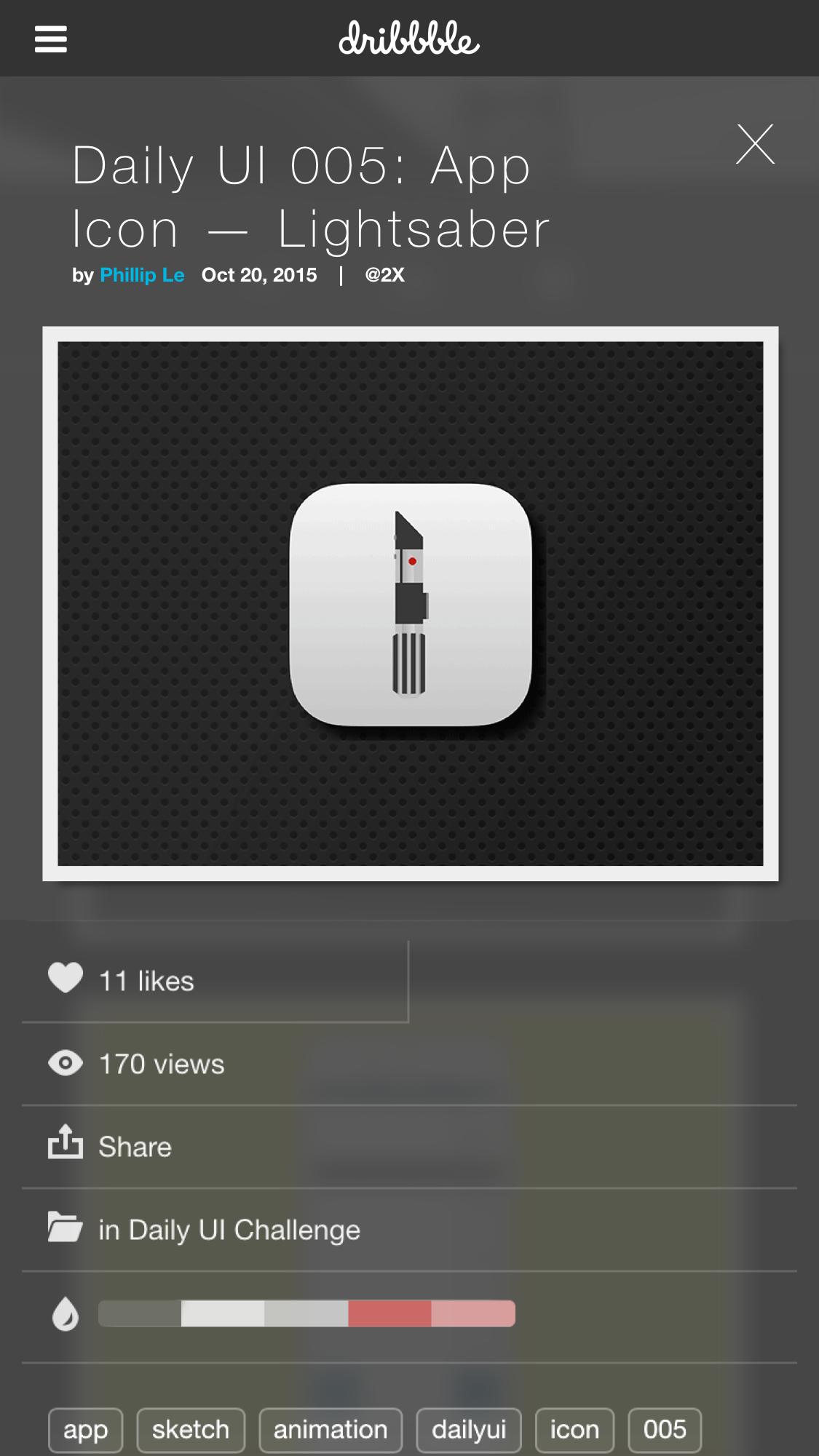 User profile click