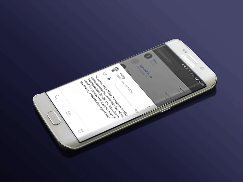 Xfinity mobile visual voicemail dribbble