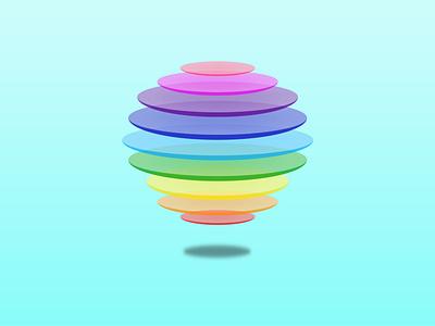 Transparent Honey Comb Ball logo graphic design vector illustration design