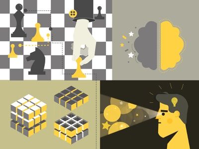 Set of chess illustrations ui adobe vectorgraphic digital artwork collage illustartionart digitalart visualgraphic designinspiration graphic design icon vector illustration design