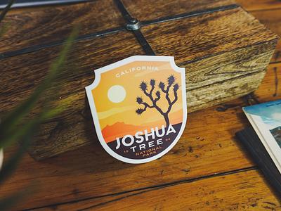 Joshua Tree Sticker california tree vintage badge outdoors parks national park joshua tree