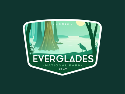 Everglades National Park national parks national park outdoors outdoor nature badge swamp florida everglades